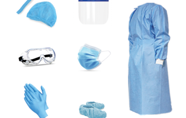 DISPOSABLE ISOLATION GOWN AND COVERALL KIT